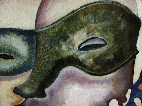 J.C. Georgi (20th century), Untitled (Masked Jester), oil on canvas, signed