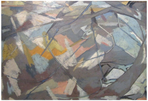"Raymond Abner (Egyptian/French, 1919-1999), ""Veduta"", ca. 1960, oil on canvas, signed"