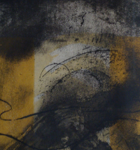 "Antoni Tàpies (Spanish, 1923-2012), ""Vertical"", 1981 (Galfetti 800), color etching and aquatint, signed, ed. 50"