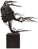 "Attributed to Bruce Friedle (American, 20th century), ""Janus"", 1969, figural metal sculpture on wooden base"