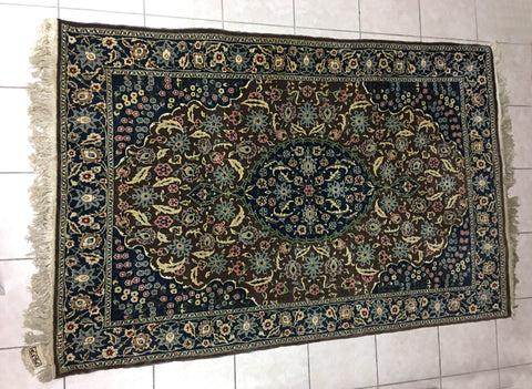 Turkish Hereke Rug, Isfahan pattern, ca. 1960, 4 ft. 8 in. x 7 ft.