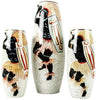 Set of Three Italian Glazed Ceramic Decorative Vases, Mica,  ca. 1940s