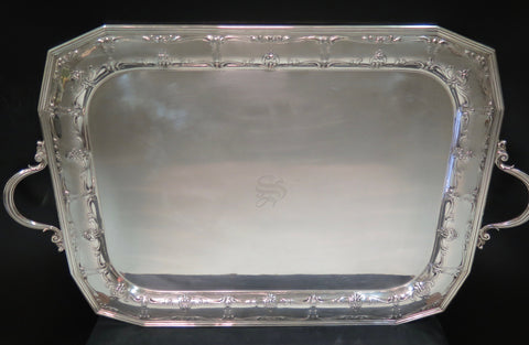 American Silver Two-Handled Serving Tray, International Silver Co., Meriden, Connecticut, ca. 1900