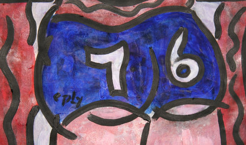 "William Nelson Copley (American, 1919-1996), ""1976"", tempera on paper, signed"