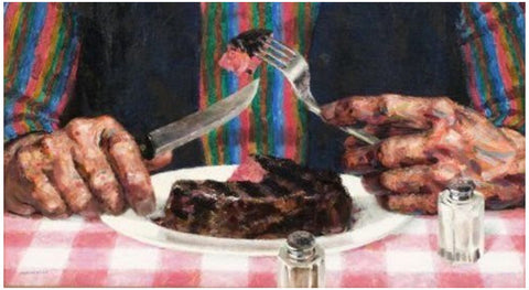 Joseph Hirsch (American, 1910-1981), Filet Mignon, 1978, oil on canvas, signed