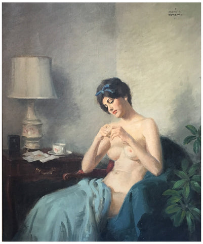Frank C. Bensing (American, 1893-1983), Morning Reverie, oil on canvas, signed