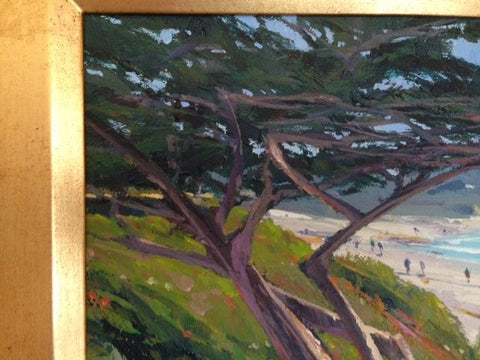 "William C. Hook (American, b. 1948), ""Beach Tree"", acrylic on canvas, signed"
