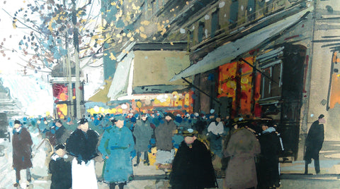 Edouard Cortès (French, 1882-1969), Place de la République, ca. 1930, gouache on paper, signed