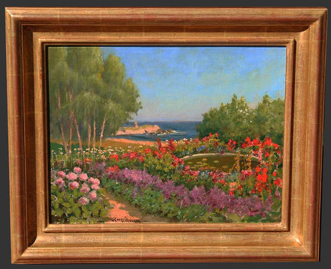 William Adam (British, 1846-1931), Pacific Grove, oil on board, signed