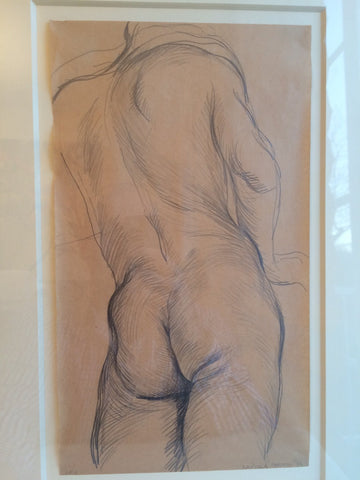 "Paul Cadmus (American, 1904-99), ""Male Nude JF3"", 1932, pencil on paper, signed"