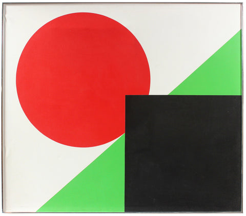Dellard Cassity (American, 1926-2008), Minimal Abstract, 1980, acrylic on canvas, signed