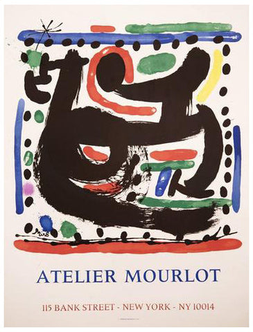 "Joan Miró (Spanish, 1893-1983), ""Atelier Mourlot, Bank Street, New York"", 1967, lithographic poster, ed. 500"