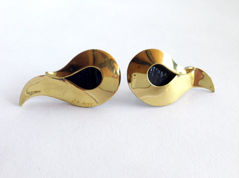 Pair of Brass Earrings, designed by Art Smith (American, 1917-1982), ca. 1950s