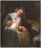 Mary Curtis Richardson (American, 1848-1931), Mother and Child, oil on canvas, signed