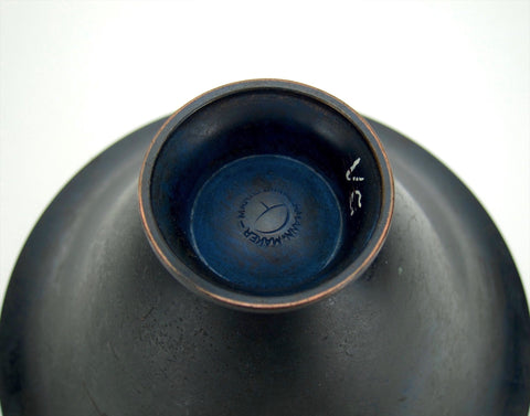 American Arts and Crafts Vessel with Midnight Blue Patina, Marie Zimmermann (1879-1972), ca. 1915