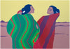 R.C. Gorman (Native American/Navajo, 1931-2005), Sisters, 1977, screenprint, signed, ed. 120