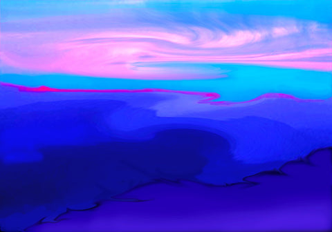 "Susan Kaprov (American, Contemporary), ""Blue Mountain Morning"", 2013, pigment print, signed, dated, ed. 3"