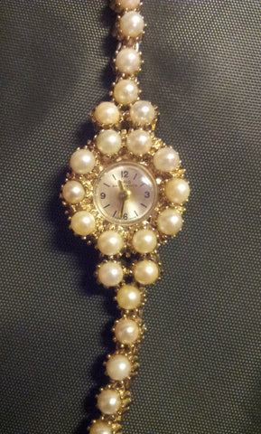 Ladies Pearl Dress Wristwatch, Oris, Switzerland, ca. 1965