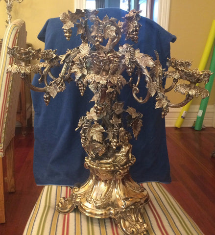 Victorian Large Silver-Plated Centerpiece Epergne, possibly Elkington & Co.
