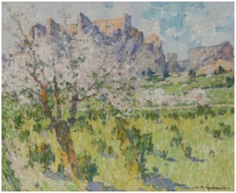 L. Raoul Guiraud (French, 1888-1976), Springtime in France, oil on board, signed