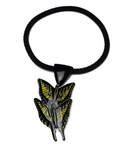 Inlaid Swallowtail Butterfly Necklace, Kevin Pourier (Lakota, b. 1958), 2014
