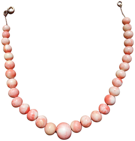Ladies Graduated Coral Bead Necklace, ca. 1950s