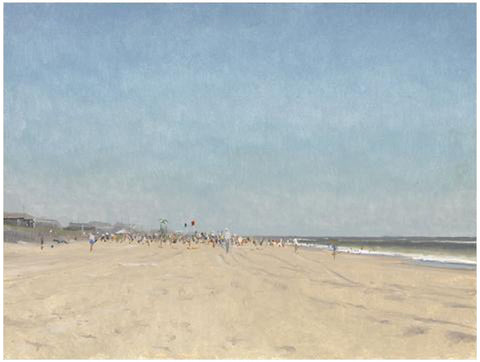 Jacob Collins (American, b. 1964), Labor Day Beach II, 2010, oil on panel, signed