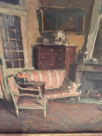 Jean-Paul Hugues (French, 1891-1972), Interieur, ca. 1920s, oil on canvas, signed