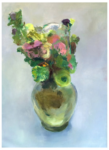 "Marc Whitney (American, b. 1955), ""Glass Vase Bouquet"", oil on linen, signed"