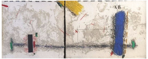 James Coignard (French, b. 1925), Blue Tension (Horizontale), carborundum etching in colors, diptych, signed