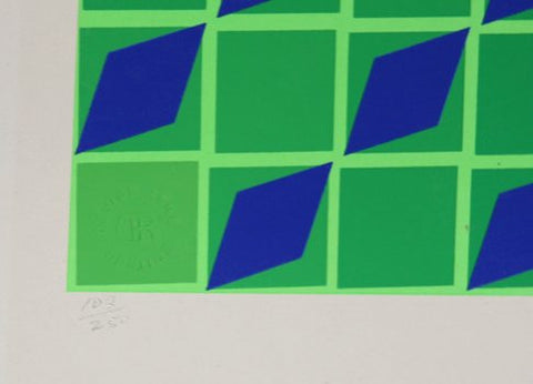 Victor Vasarely (Hungarian/French, 1906-1997), Jindey, ca. 1970, screenprint, signed, ed. 250