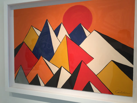 "Alexander Calder (American, 1898-1976), ""Homage to the Sun"", 1973, lithograph in colors, signed and numbered"