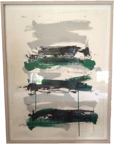 "Joan Mitchell (American, 1925-1992), ""Champs (Black, Gray and Green)"", 1991-92, lithograph, signed, ed. 125"