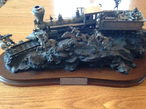 "Michael Boyett (American, 1943-2015), ""Attack on the Iron Horse"", 1988, cast pewter sculpture, signed, dated, ed. 1500"