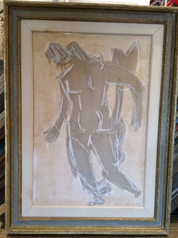 Vaclav Vytlacil (American, 1892-1984), Untitled (Abstract Figure), 1959, mixed media on paper, signed