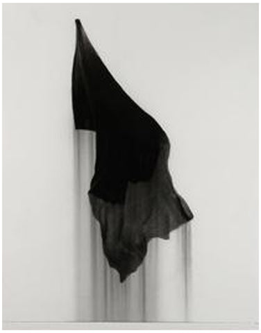 "Paul Jacobsen (American, b. 1976), ""Mourning Flag"", 2015, charcoal on paper"