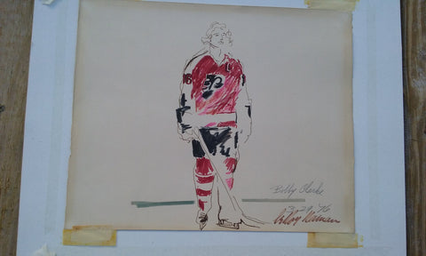 "LeRoy Neiman (American, 1921-2012), ""Bobby Clarke"", 1976, mixed media on paper, signed"