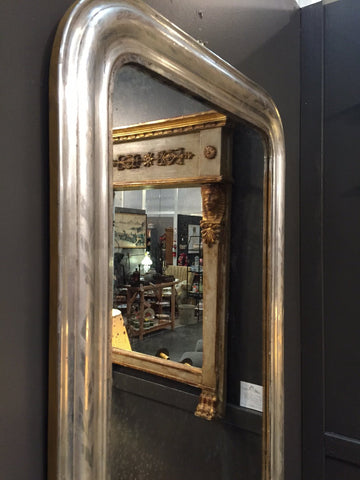 Louis Philippe Silvered Mirror, 19th century
