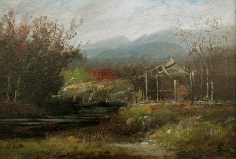 Harrison Bird Brown (American, 1831-1915), Abandoned Mill in the White Mountains, oil on canvas