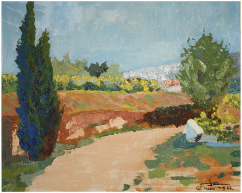 René Genis (French, 1922-2004), St. Tropez, 1966, oil on canvas, signed and dated