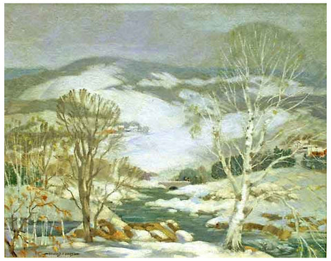 Richard Chase (American, 1892-1985), Fresh Snow, ca. 1960, oil on canvas, signed