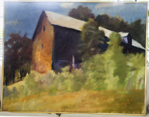 "Wolf Kahn (American/German, b. 1927), ""Barn Seen as a Ship II"", 1977, oil on canvas, signed"