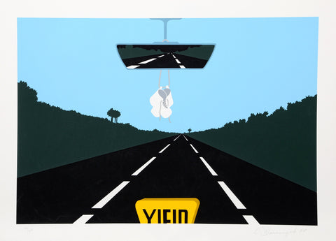 "Allan D'Arcangelo (American, 1930-1998), ""The Holy Family,"" 1980, screenprint, signed, ed. 250"
