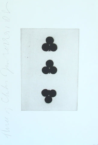 Donald Sultan (American, b. 1951), Three of Clubs, Playing Cards, 1990, aquatint, signed, ed. 44