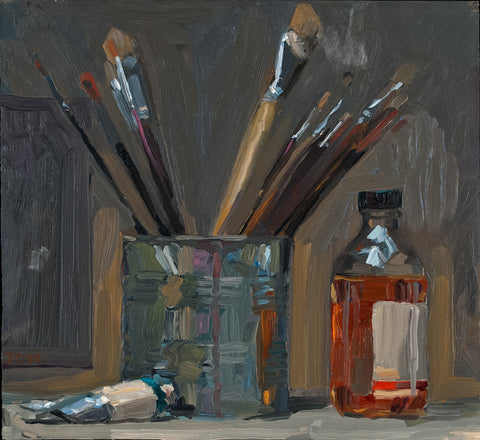 Jacob Collins (American, b. 1964), Paint Brushes, 1992, oil on panel
