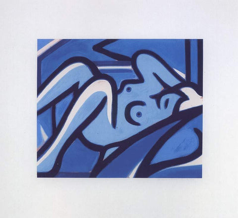 "Tom Wesselmann (American, 1931-2004), ""Blue Nude"", 2001, screenprint in colors, signed, ed. 60"