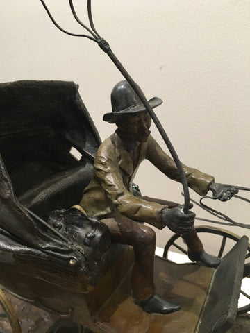 Bob Parks (American, b. 1948), Country Doctor Emergency, 1980, bronze sculpture, signed, ed. 24