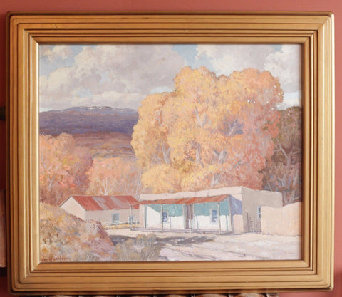 "Carl von Hassler (American, 1887-1969), ""Autumn in San Mateo"", 1941, oil on canvas, signed and dated"