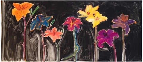 "Gary Bukovnik (American, b. 1947), ""Eight Lilies"", 1992, monotype on paper, signed and dated"