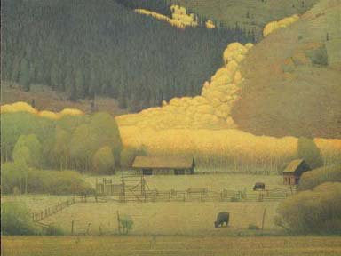 "Russell Chatham (American, b. 1939), ""Eagle County in the Fall"", 2000, lithograph in colors, signed"